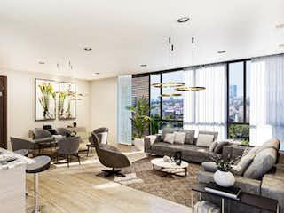 Una sala de estar llena de muebles y una ventana en Terraza Tulipan