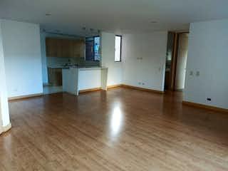 Una cocina con suelos de madera y suelos de madera en Apartamento en venta en Camino Verde, 70mt con balcon