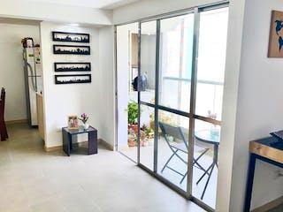 Una vista de una sala de estar desde una ventana en Apartamento en venta en Loma de los Bernal de dos habitaciones