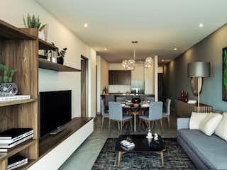 Una sala de estar llena de muebles y una televisión de pantalla plana en Arazia del Valle