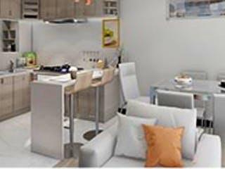Una cocina llena de un montón de electrodomésticos blancos en Ibiza 76
