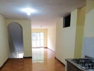 Una cocina con una estufa, un fregadero y una estufa en Casa en venta en El Salvador, 80mt con terraza