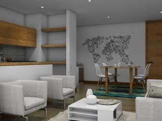 Una sala de estar llena de muebles y una mesa en Apartamento en venta en Loma del Indio, de 79,95mtrs2