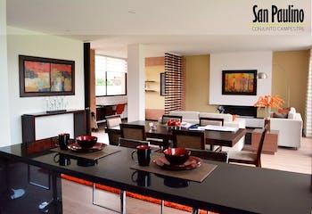 Proyecto de vivienda, San Paulino Conj Camp, Casas en venta en Casco Urbano Cajicá 165m²