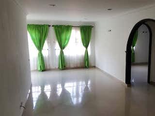 Una foto en blanco y negro de una sala de estar en Apartamento en venta en Florida Nueva, 167mt con terraza