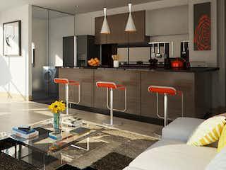 Una sala de estar llena de muebles y una mesa en Paralela 91