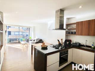 Una cocina con una estufa y un fregadero en Apartamento en venta en Santa Paula, de 67mtrs2