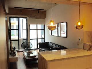 Una cocina con un gran ventanal en ella en Apartamento En Venta En Virrey de 50m2