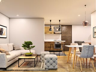 Una sala de estar llena de muebles y una chimenea en San Simón