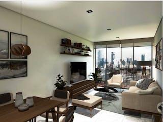 Una sala de estar llena de muebles y una televisión de pantalla plana en Dos Vistas Roma