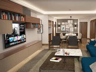 Una sala de estar llena de muebles y una televisión de pantalla plana en Downtown del Valle