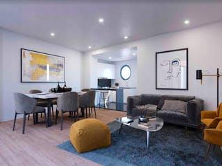 Una sala de estar llena de muebles y una televisión de pantalla plana en Baja California 279