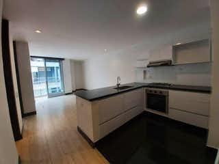 Una cocina con un fregadero y una estufa en Apartamento en venta en Barrio Pasadena, de 56,29mtrs2
