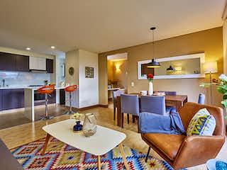 Una sala de estar llena de muebles y una mesa en Haciendas de la Sabana aptos