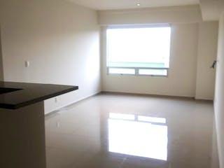 Una vista de una sala de estar con un gran ventanal en Departamento en venta en Lomas de Santa Fe, de 80mtrs2