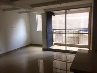 Una vista de una habitación con una puerta corredera de cristal en Apartamento en venta en Restrepo Naranjo de 2 alcoba
