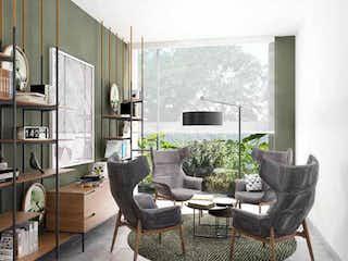 Una sala de estar llena de muebles y una ventana en Spazio Centro de Coyoacán