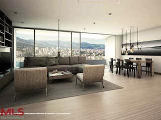 Una sala de estar llena de muebles y una gran ventana en Podium