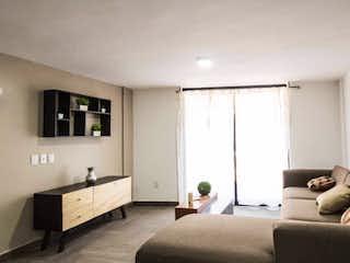 Una sala de estar llena de muebles y una ventana en Estrena departamento en Tacuba, 15 minutos de Polanco.