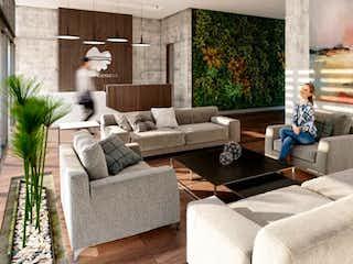 Una persona sentada en un sofá en una sala de estar en Apartamento en venta en Casco Urbano La Calera, de 98mtrs2