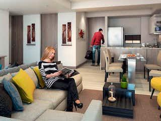 Un grupo de personas sentadas en una sala de estar en Apartamento en venta en Casco Urbano La Calera, de 69mtrs2