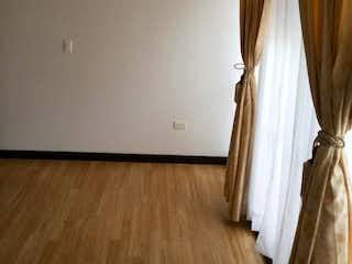Una cama con cortinas blancas y una cortina en Apartamento En Funza, 3 Habitaciones- 64m2.