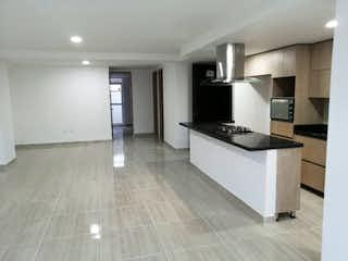 Cocina con nevera y horno de fogones en Apartamento en venta en La Castellana de tres habitaciones
