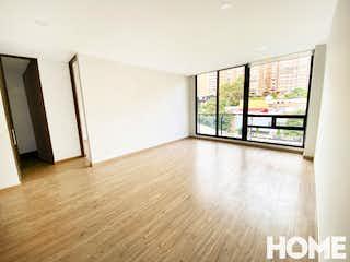 Una vista de una sala de estar y una sala de estar en Iluminado Apartaestudio De 1hab En 4to Piso – Venta – Cra7b Cll124 – Santa Barbara