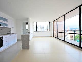 Una cocina con una estufa y un refrigerador en Apartamento en Venta FLORIDA NUEVA