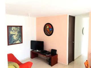 Una sala de estar llena de muebles y una televisión de pantalla plana en Apartamento en venta en La Cumbre, de 60mtrs2