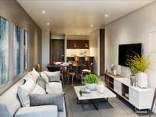 Una sala de estar llena de muebles y una televisión de pantalla plana en Nupol