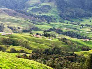 Una vista panorámica de un valle con montañas en el fondo en Vendo Finca Ganadera 66 cuadras Alto Boquerón