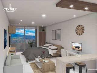 Una sala de estar llena de muebles y una televisión de pantalla plana en Century Tower