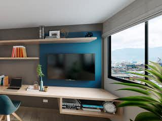 Una sala de estar llena de muebles y una televisión de pantalla plana en Centrik View
