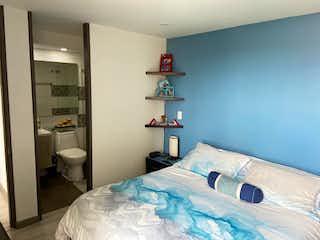 Una habitación de hotel con una cama y una mesita de noche en Apartamento en venta en San Ignacio 80m² con Bbq...