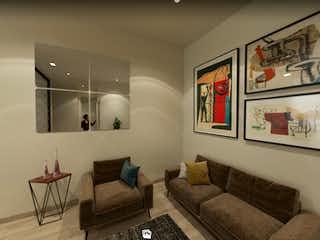 Una sala de estar llena de muebles y una gran ventana en Estoril 100