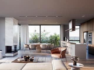 Una sala de estar llena de muebles y una chimenea en Morus