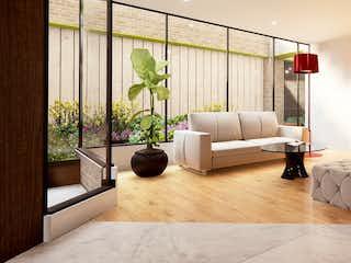 Una sala de estar llena de muebles y una gran ventana en 127 Park