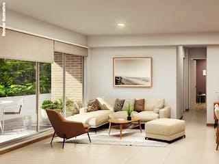 Una sala de estar llena de muebles y una mesa en Terrazas del Río