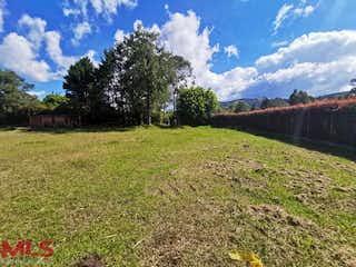 Una vista de un campo con una montaña en el fondo en Parcelación Los Guayabos