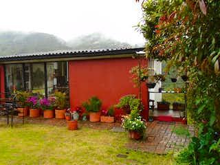 Una planta en maceta sentada delante de un edificio en Casa en venta en La Toma, 134m²