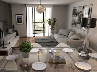 Una sala de estar llena de muebles y una ventana en Venta de Departamentos en México Tacuba