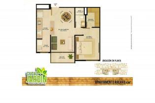 Apartamento en venta en La Ceja 48m²
