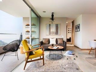 Una sala de estar llena de muebles y una mesa en Apartamento en venta en La Ferrería con Piscina...
