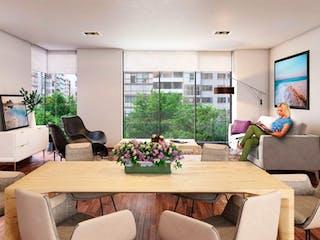 Una sala de estar llena de muebles y una televisión de pantalla plana en Venta de Departamento en Sennse Garden Polanco Miguel Hidalgo