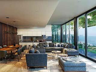 Una sala de estar llena de muebles y una ventana en Arteaga y Salazar 845