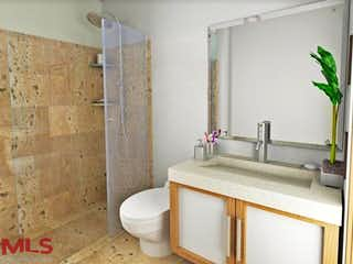 Un cuarto de baño con lavabo y ducha en Mocaccino