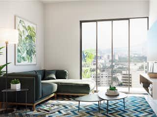Una sala de estar llena de muebles y una ventana en Andrade 314