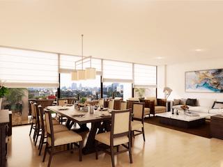 Una sala de estar llena de muebles y una gran ventana en Cobalto 66