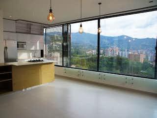 Una cocina con un gran ventanal y un gran ventanal en Apartaestudio en Venta SAN LUCAS